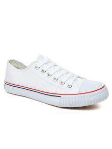 تنفس قماش أحذية رياضية بسيطة - أبيض 43