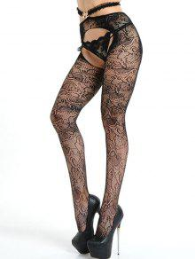 60ca0d6d68c900 19% OFF] 2019 Crotchless Lace Fishnet Tights In BLACK | ZAFUL