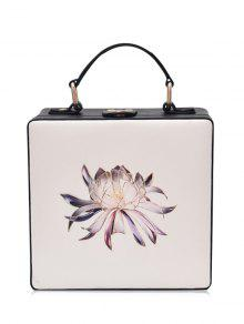 Buy Floral Print Box Shaped Crossbody Bag - OFF-WHITE