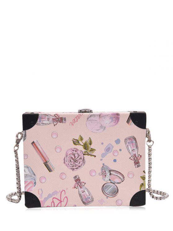 sale PU Leather Floral Print Crossbody Bag - LIGHT PINK