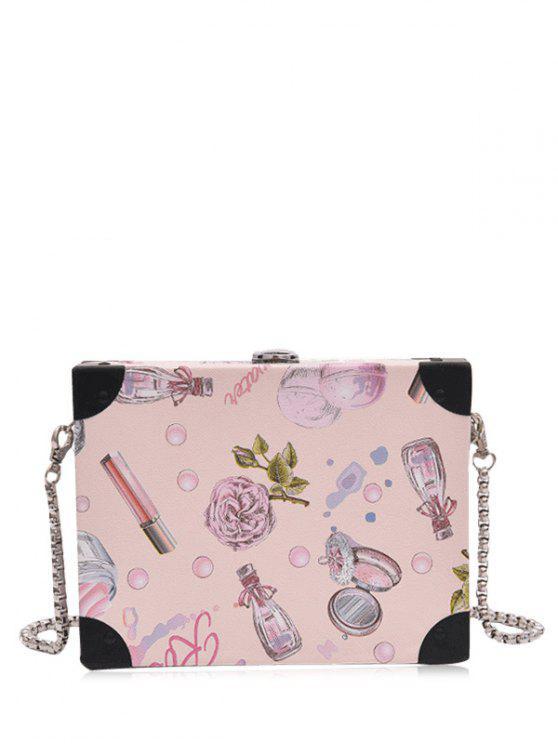 sale PU Leather Floral Print Crossbody Bag - LIGHT PINK