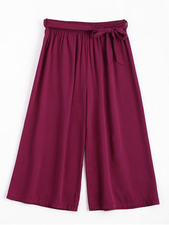 Pantalones largos con cinturón Capri - Rojo purpúreo Única Talla