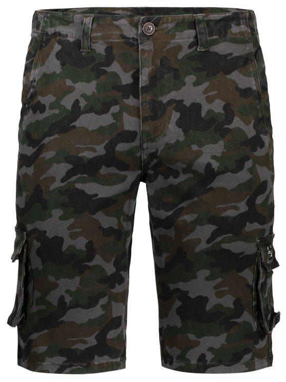 Hommes Camo Cargo Shorts - Camouflage 36