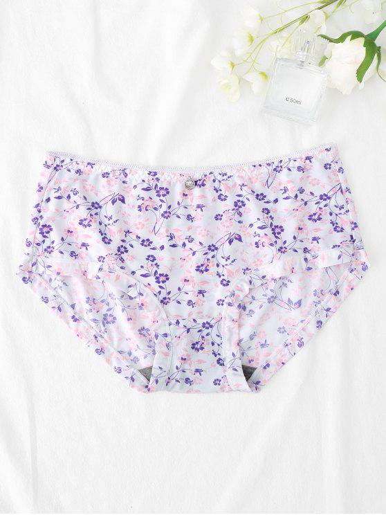latest Hipster Tiny Flower Panties - WHITE ONE SIZE
