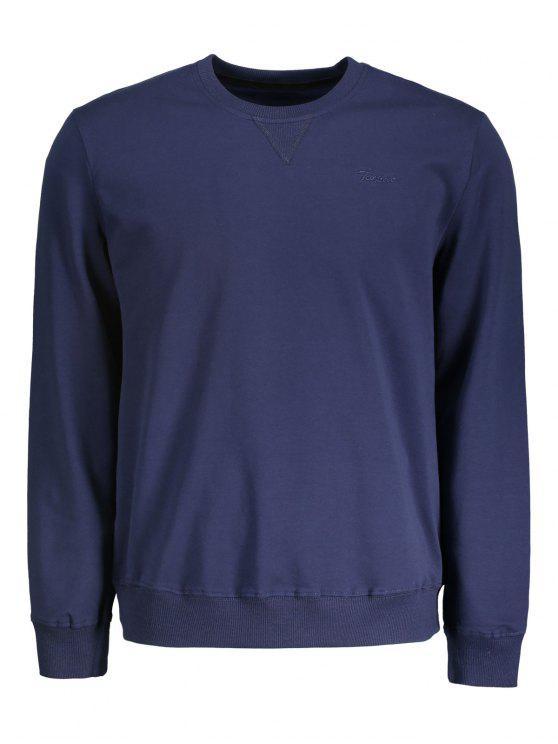 T-shirt à manches longues - Bleu Violet XL