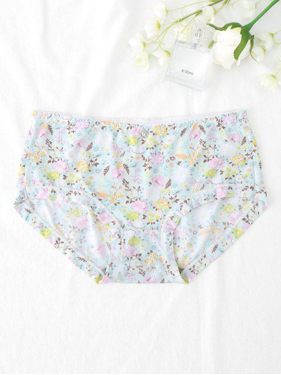 ladies Smooth Hipster Tiny Floral Panties - LIGHT GREEN L