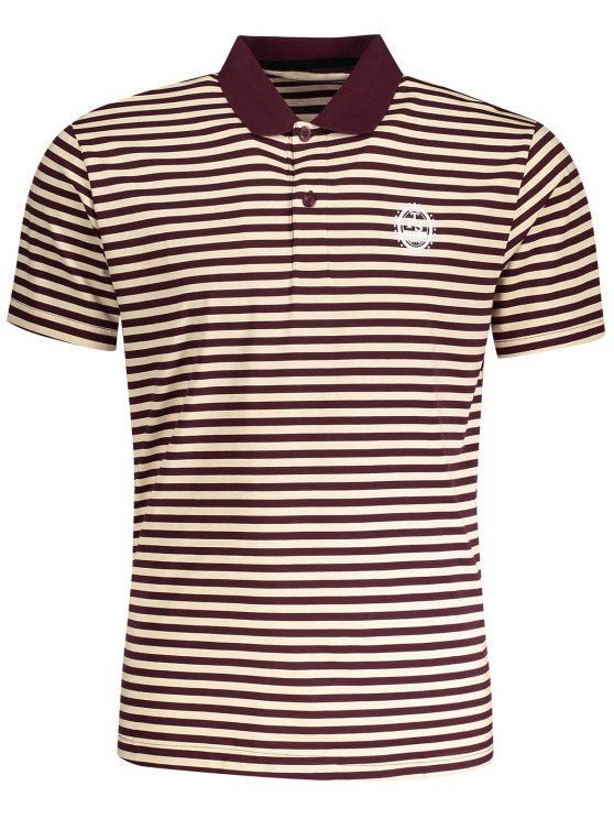 affordable Striped Polo T-shirt - STRIPE 2XL