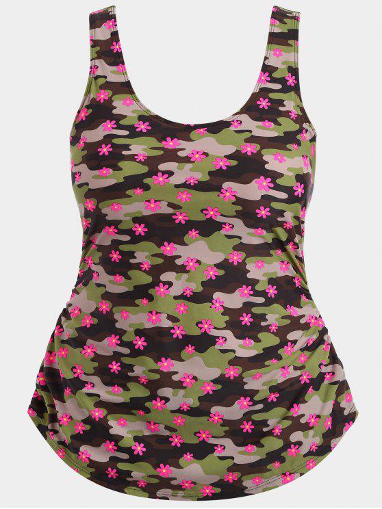 Maillots de bain à double couche Camo Plus Size - Camouflage 2XL