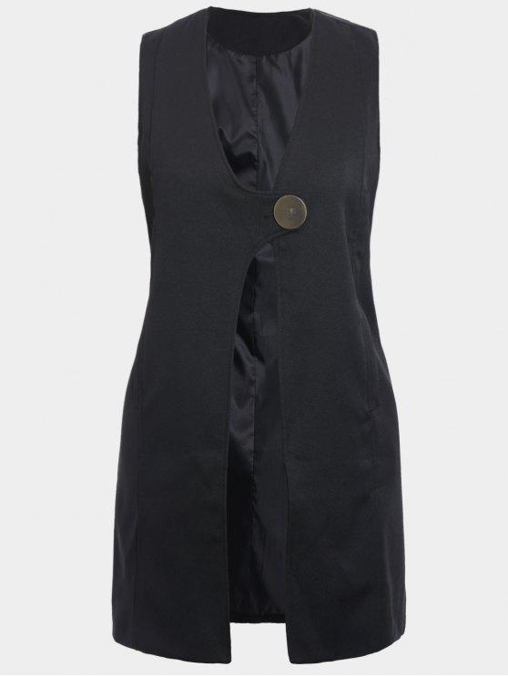 outfits Plus Size Longline Waistcoat - BLACK 2XL