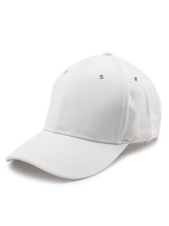 Sombrero de béisbol de la cola larga del bordado de las letras - Blanco