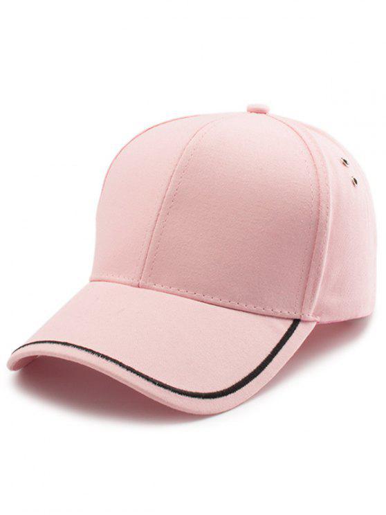 Chapéu de basebol bordado linha lisa - Rosa