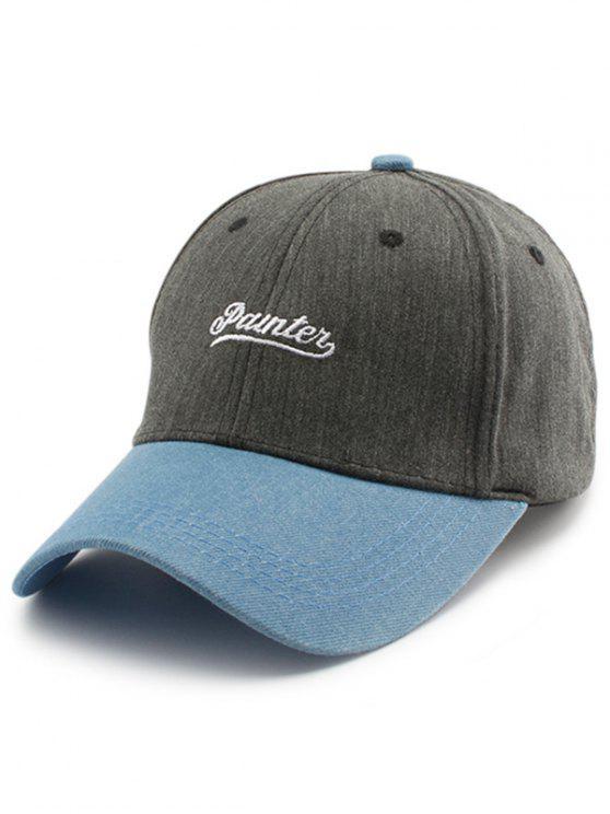Chapéu de basebol do bordado das letras de dois tons - Cinza