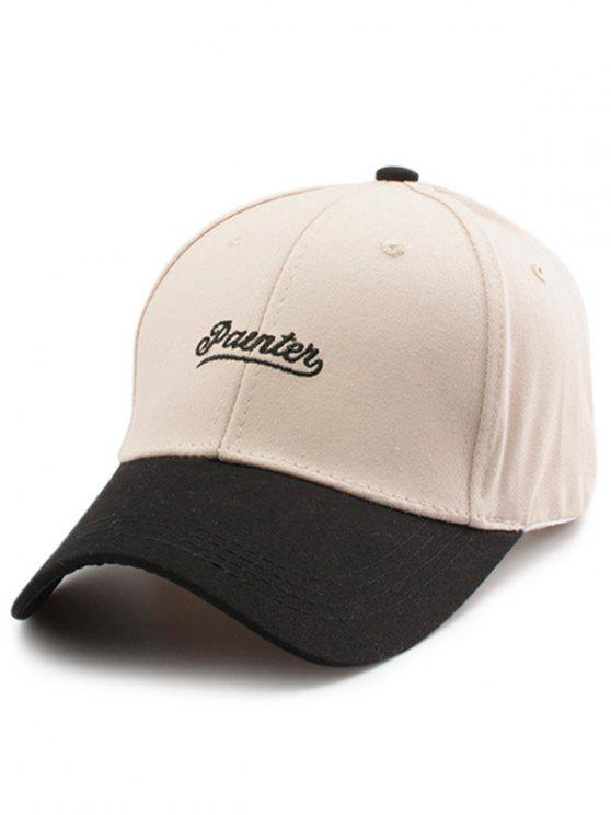 affordable Two Tone Letters Embroidery Baseball Hat - OFF-WHITE