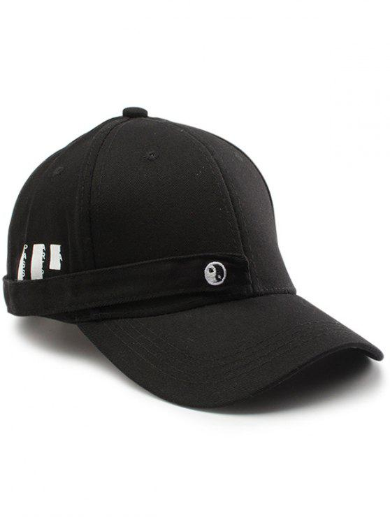 Tiny Rectangle Huit Diagramme Embellished Baseball Hat - Noir