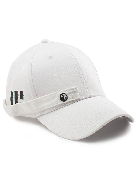 women's Tiny Rectangle Eight Diagrams Embellished Baseball Hat - WHITE