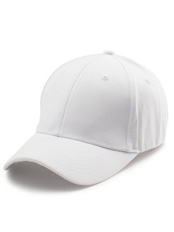 Gorro de béisbol bordado de las letras traseras - Blanco