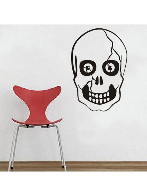 هالوين الجمجمة الشكل الجدار ملصق - أسود