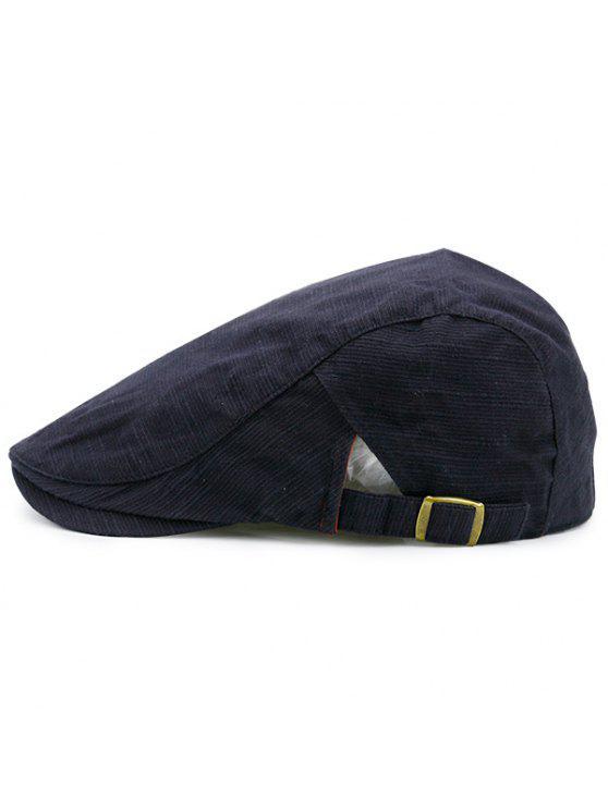 Sombrero Plano Rayado Nostálgico Negro:   ZAFUL