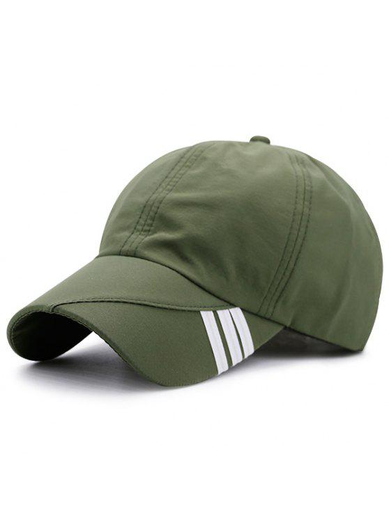 online Diagonal Stripe Embellished Baseball Hat - ARMY GREEN