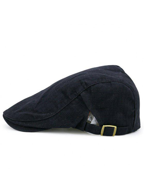 sale Checked Nostalgic Flat Hat - BLACK