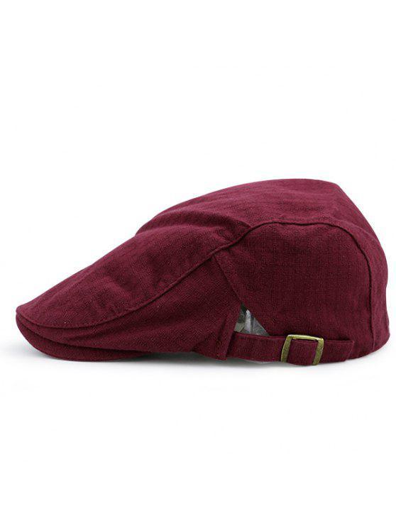 Checked Nostalgic Flat Hat - Vinho vermelho