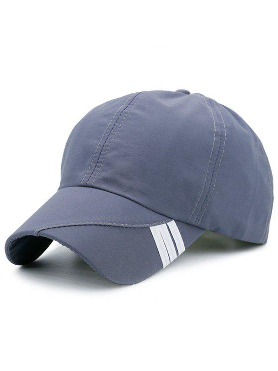 Cappello da baseball decorato a righe striscia diagonale - Grigio Scuro