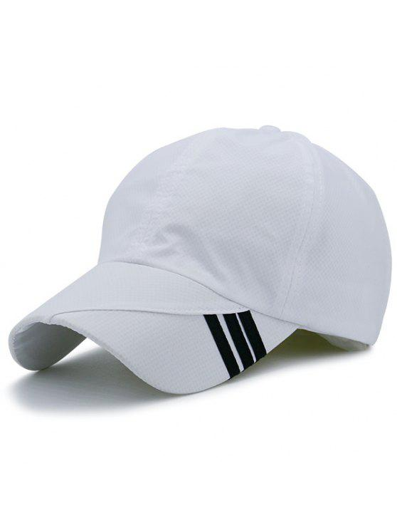 Cappello da baseball decorato a righe striscia diagonale - Bianca
