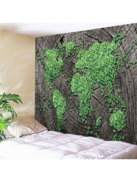 2018 Stump Plants World Map Wall Art Tapestry In TAUPE W79 INCH ...