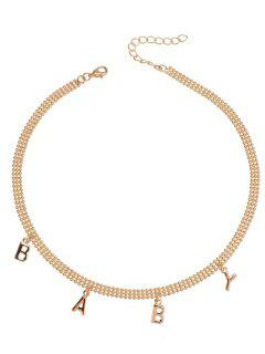 BABY Choker Necklace - Golden