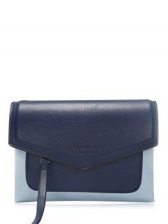 Color Block Envelope Crossbody Bag - Deep Blue