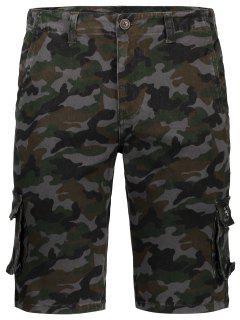 Men Camo Cargo Shorts - Camouflage 36