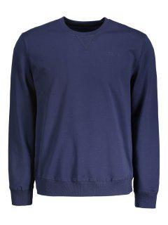 Camiseta De Cuello Redondo Para Hombre - Azul Purpúreo L