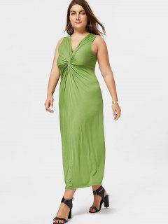 Twist Plus Size Dress - Grass Green 4xl