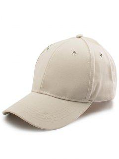 Letters Embroidery Long Tail Baseball Hat - Khaki
