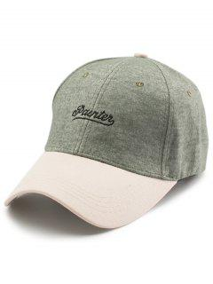 Two Tone Letters Embroidery Baseball Dad's Hat - Green