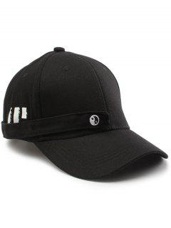 Tiny Rectangle Eight Diagrams Embellished Baseball Hat - Black