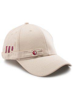 Tiny Rectangle Eight Diagrams Embellished Baseball Hat - Khaki