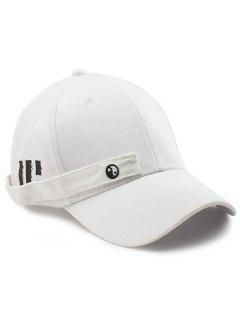 Sombrero De Béisbol De Rectángulo De Diagramas De Minúsculo Ocho - Blanco
