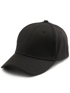 Back Letters Embroidery Baseball Dad's Hat - Black