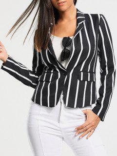 Vertical Stripe One Button Blazer - Xl