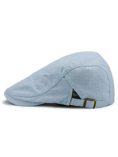 Checked Nostalgic Flat Hat - Light Blue
