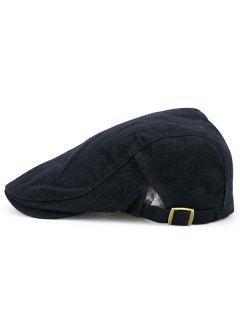 Checked Nostalgic Flat Hat - Black