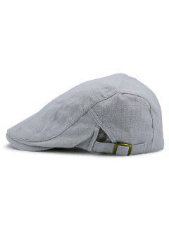 Checked Nostalgic Flat Hat - Gray