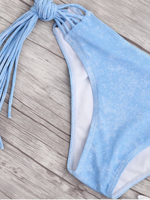 women Cami Multi-String Tie-Dyed Bikini - WHITE M Mobile