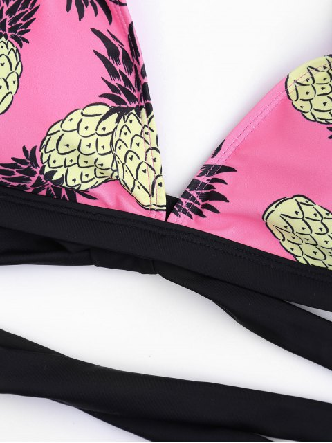 shops Pineapple Padded Bandage Bikini - PINK L Mobile