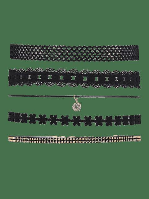 chic 5 Pieces Punk Choker Necklace - BLACK  Mobile
