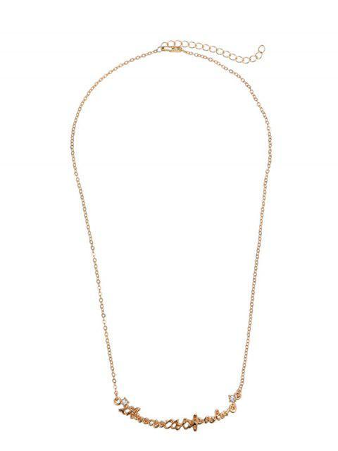 unique Nameplate Necklace - GOLDEN  Mobile