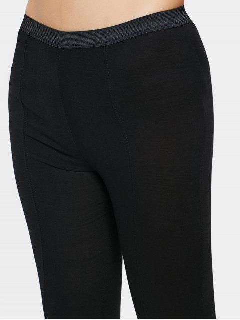 sale High Waisted Lace Up Leggings - BLACK M Mobile