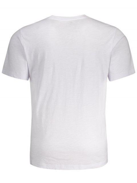 T-shirt graphique à manches courtes - Blanc 2XL Mobile