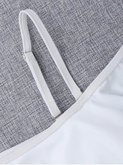 buy Layered Off The Shoulder Girls Bikini Set - WHITE 6T Mobile